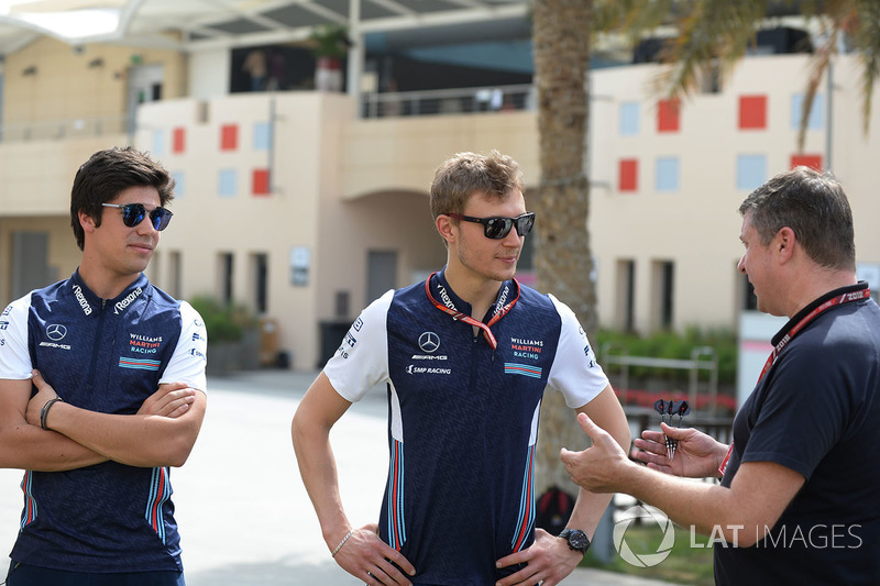 Lance Stroll, Williams et Sergey Sirotkin, Williams avec David Croft, Sky TV