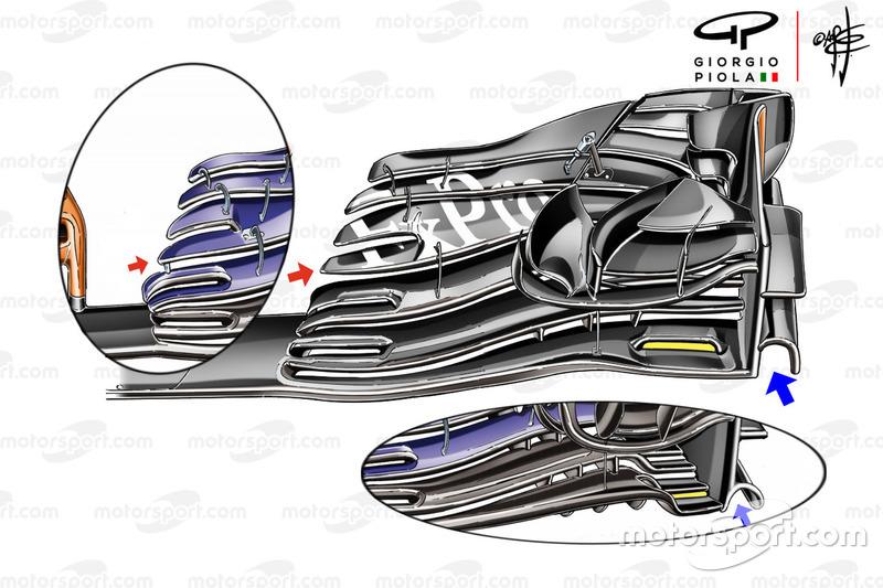 Aileron avant de la McLaren MCL33, GP d'Autriche