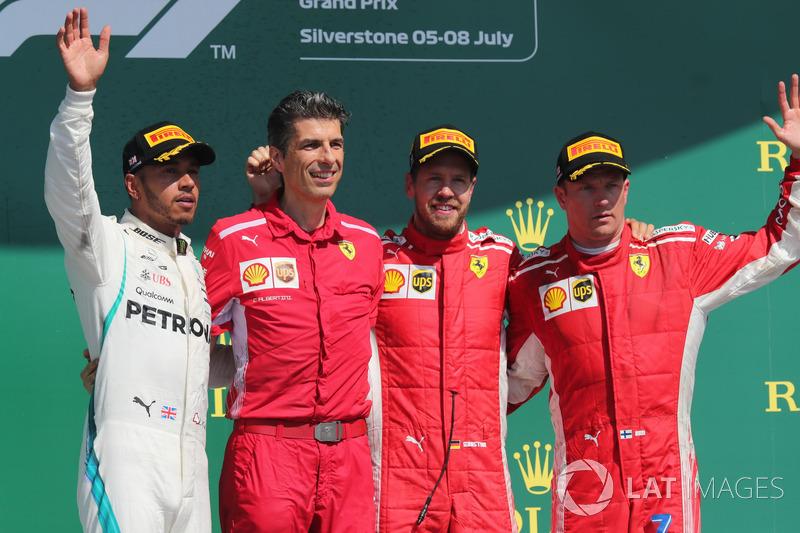 GP de Gran Bretaña: 1º Vettel, 2º Hamilton, 3º Raikkonen