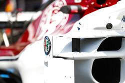 Alfa Romeo logo op een Sauber