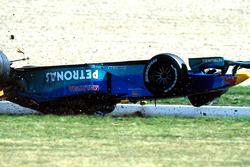 Choque de Pedro Diniz, Sauber Petronas C18