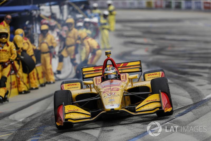 Ryan Hunter-Reay, Andretti Autosport Honda, au stand