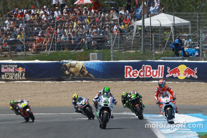 Eugene Laverty, Aspar MotoGP Team and Andrea Dovizioso, Ducati Team