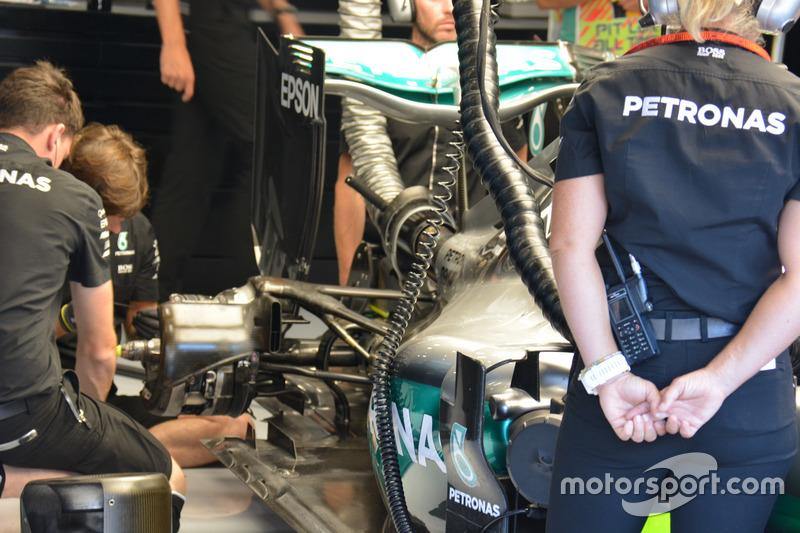 Mercedes AMG F1 W07 Hybrid, rear wing