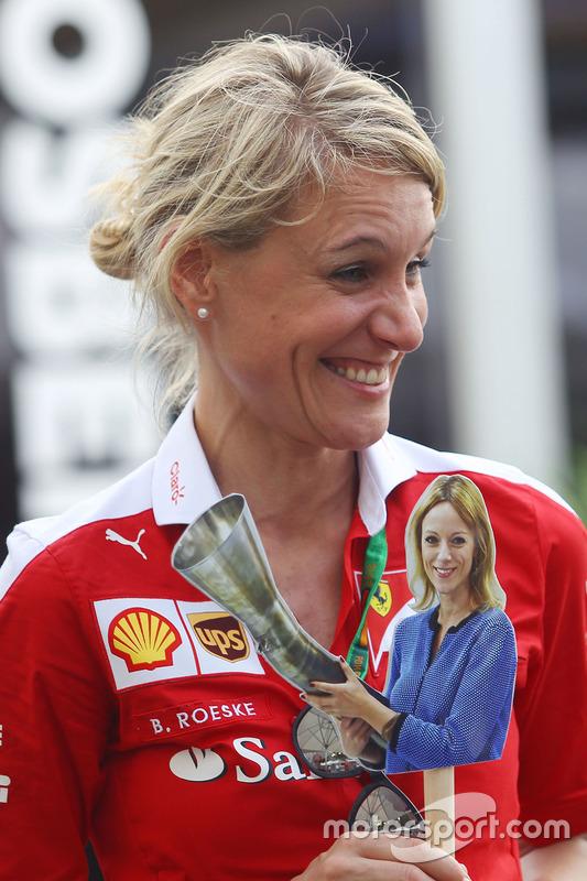 Britta Roeske, persverantwoordelijke Sebastian Vettel, Ferrari