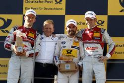 Podium: 2e plaats Mattias Ekström, Audi Sport Team Abt Sportsline, Audi A5 DTM; Stefan Reinhold, BMW