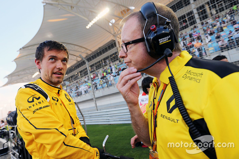 Jolyon Palmer, Renault Sport F1 Team with Paul Seaby, Lotus F1 Team, Team Manage