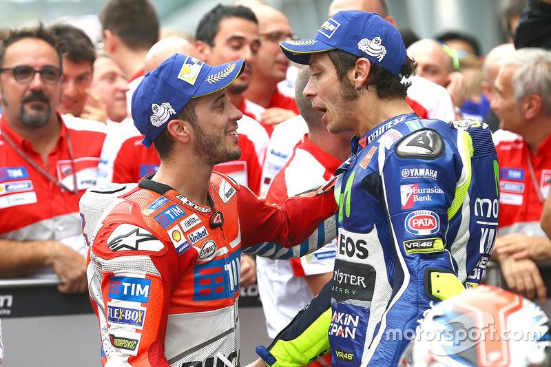 Ganador, Andrea Dovizioso, Ducati Team, segundo, Valentino Rossi, Yamaha Factory Racing