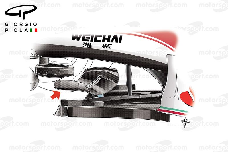 Ailette de splitter, Ferrari SF16-H T, avec commentaires, GP du Mexique