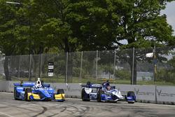 Scott Dixon, Chip Ganassi Racing, Honda; Marco Andretti, Andretti Autosport, Honda