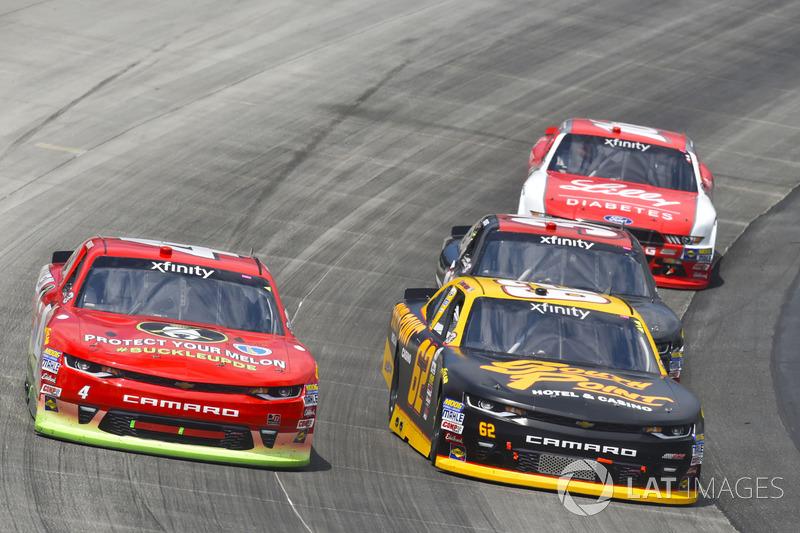 Ross Chastain, JD Motorsports, Chevrolet; Brendan Gaughan, Richard Childress Racing, Chevrolet