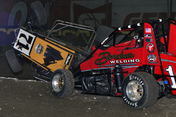 Kyle Larson flip and Matt Wesfall had nowhere to go