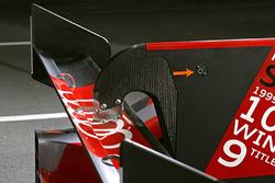 #8 Audi Sport Team Joest Audi R18 rear wing detail