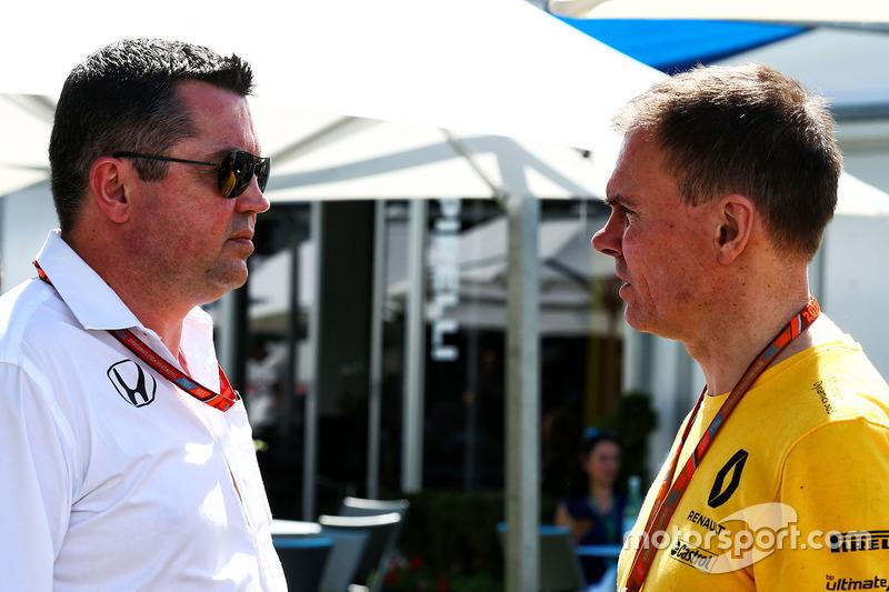 Eric Boullier, McLaren; Alan Permane, Renault Sport F1 Team