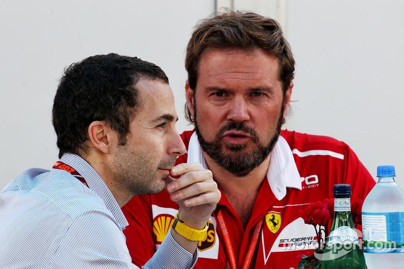 Nicolas Todt, manager de pilotos con Gino Rosato, Ferrari