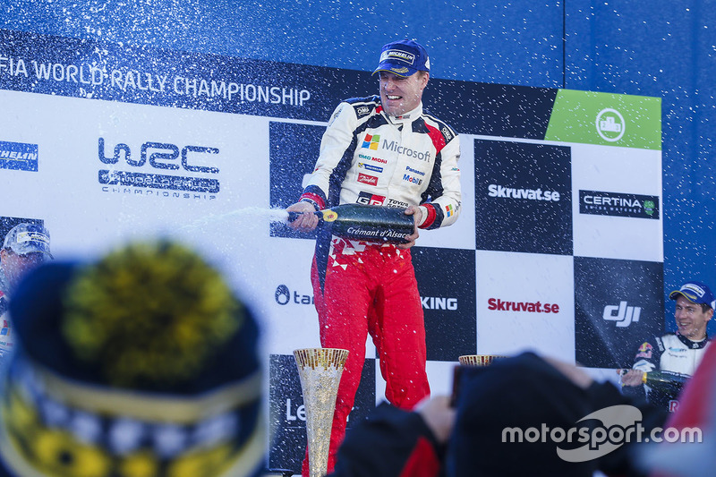 Podio de Jari-Matti Latvala, Toyota Racing