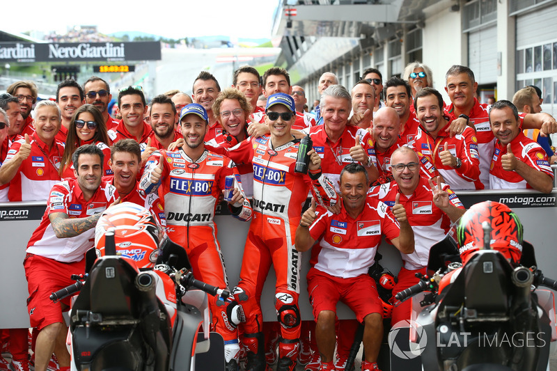Second and third place after qualifying for Andrea Dovizioso, Ducati Team, Jorge Lorenzo, Ducati Team