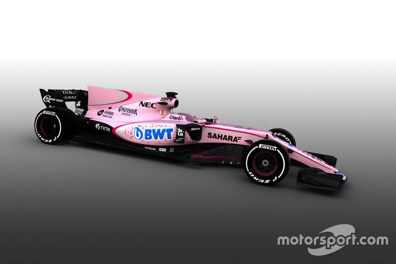 Force India VJM10 – машина станет одной из самых заметных в Ф1 в 2017 году