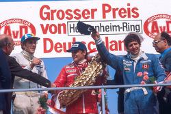 1. Niki Lauda, Ferrari; 2. Jody Scheckte, Wolfr; 3. Hans-Joachim Stuck, Brabham