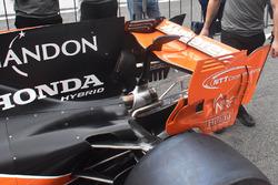 McLaren MCL32, la paratia dell'ala posteriore