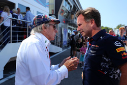 Jackie Stewart, Christian Horner, Red Bull Racing Team Principal