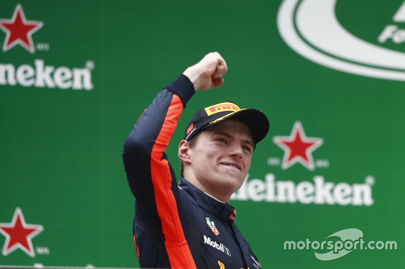 Podium: Max Verstappen, Red Bull Racing