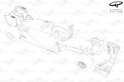 Mercedes W05 3/4 view