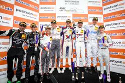 Trophy Podium: 1. #77 Callaway Competition, Corvette C7 GT3-R: Jules Gounon, Daniel Keilwitz, 2. #2 Montaplast by Land-Motorsport, Audi R8 LMS: Jeffrey Schmidt, Christopher Haase, 3. #25 BWT Mücke Motorsport, Audi R8 LMS: Mike David Ortmann, Frank Stippler