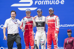 Podium: winner Sam Bird, DS Virgin Racing, second place Felix Rosenqvist, Mahindra Racing, third place Nick Heidfeld, Mahindra Racing