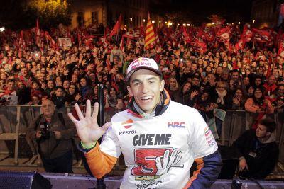 Celebração do título de Marc Marquez