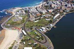 Schets van het nieuwe stratencircuit in Newcastle