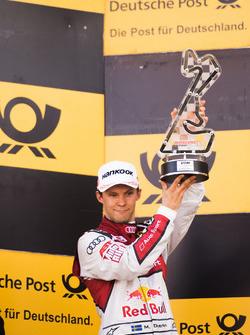 Podium: tweede Mattias Ekström, Audi Sport Team Abt Sportsline, Audi A5 DTM