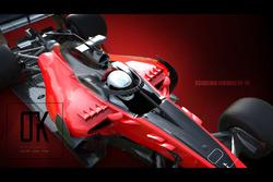 Diseño de concepto Halo Ferrari 2018