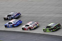 Justin Allgaier, JR Motorsports Chevrolet, Erik Jones, Joe Gibbs Racing Toyota, Cole Custer, Stewart-Haas Racing Ford, Ryan Blaney, Team Penske Ford