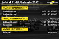 Jadwal F1 GP Malaysia 2017