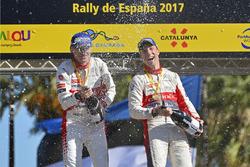 Podium: Winners Kris Meeke, Paul Nagle, Citroën C3 WRC, Citroën World Rally Team