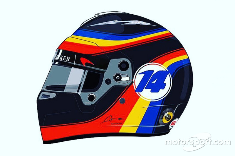 Helmdesign von Fernando Alonso
