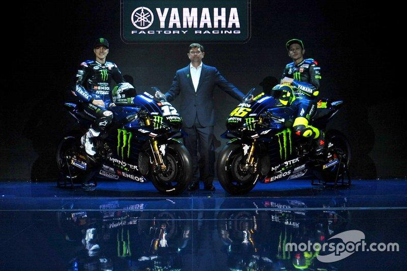 Maverick Vinales, Yamaha Factory Racing; Valentino Rossi, Yamaha Factory Racing