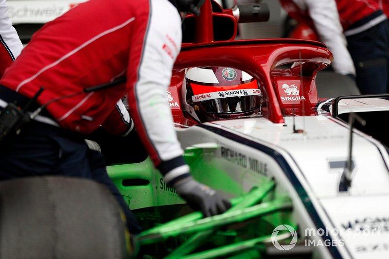 Alfa Romeo Racing C38 con parafina