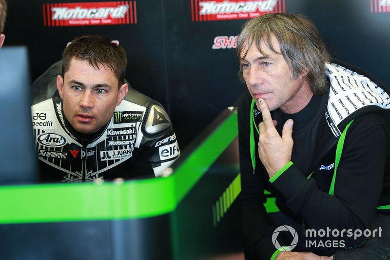 Leon Haslam, Kawasaki Racing con il padre Ron Haslam