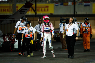 Esteban Ocon, Racing Point Force India, si ritira dalla gara