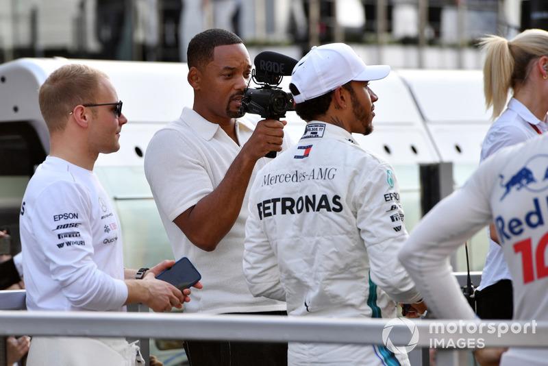 Will Smith con Lewis Hamilton, Mercedes AMG F1