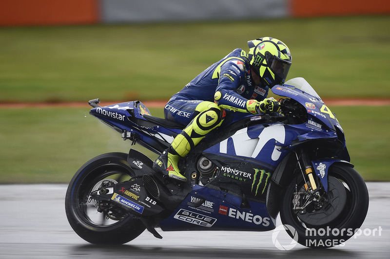 Valentino Rossi, Yamaha Factory Racing, after crash