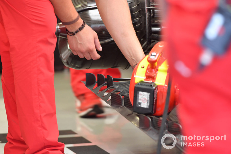 Detalle del piso trasero Ferrari SF-71H