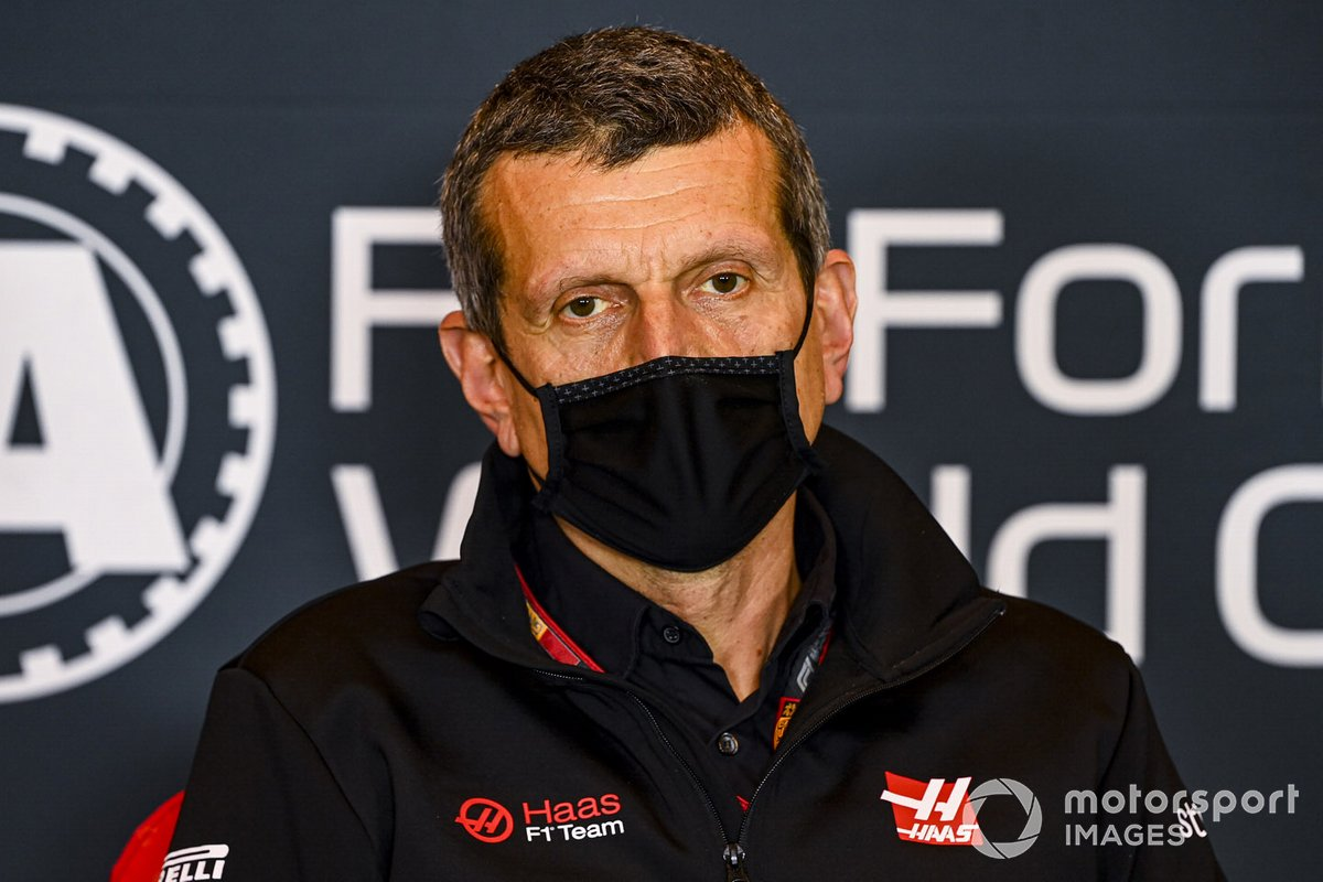 Guenther Steiner, Team Principal, Haas F1 in the press conference