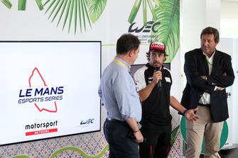 Présentation des Le Mans Esports Series avec Fernando Alonso