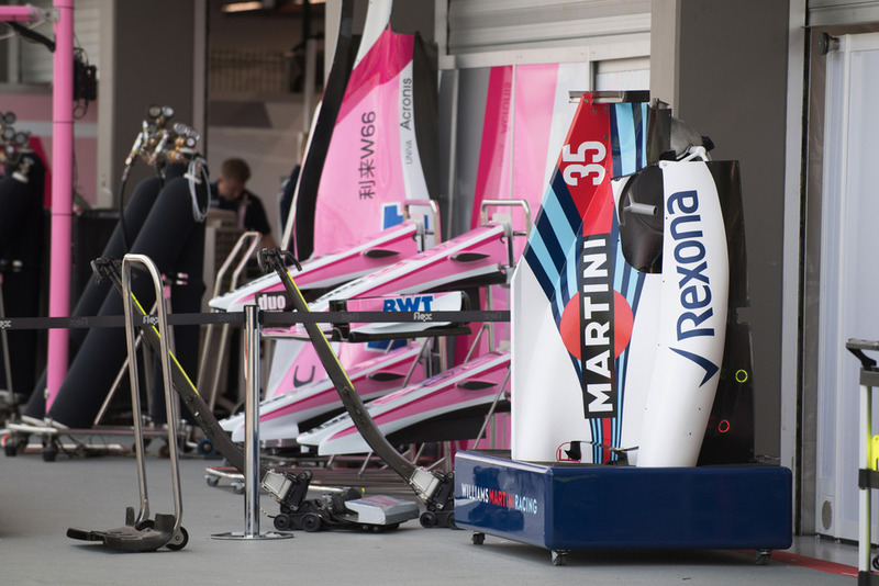 Chasis de Williams y Force India