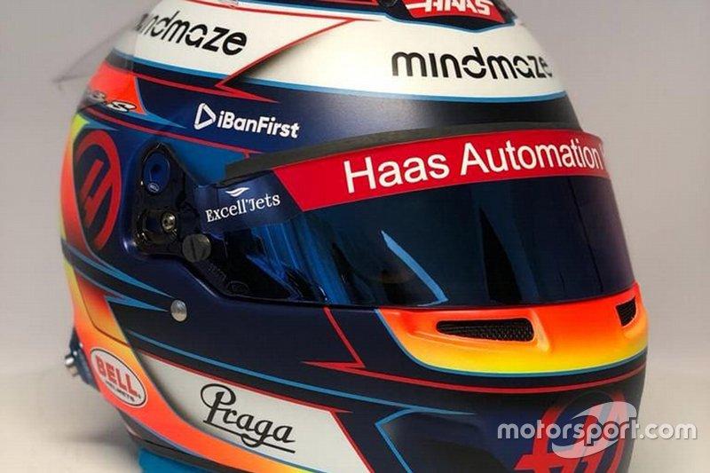 Romain Grosjean kask tanıtımı