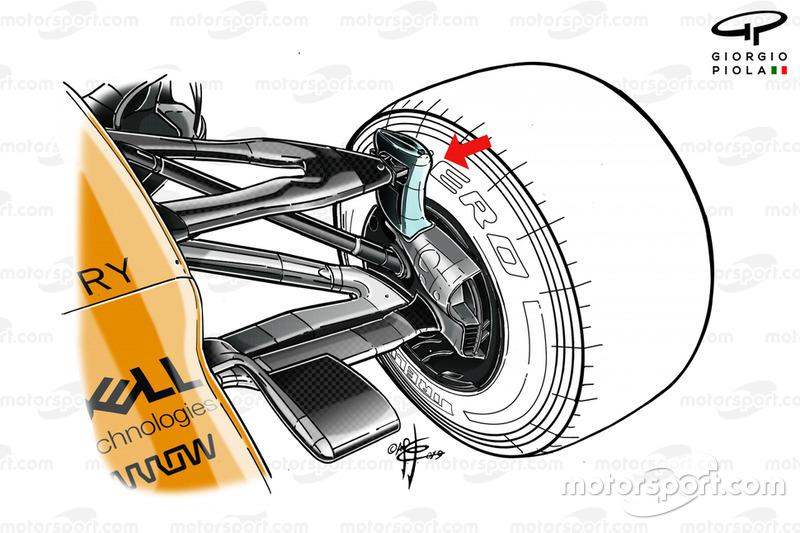 McLaren MCL34 front suspension
