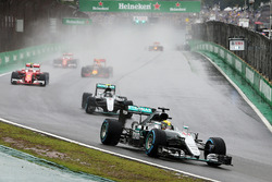 Lewis Hamilton, Mercedes AMG F1 W07 Hybrid at the start of the race
